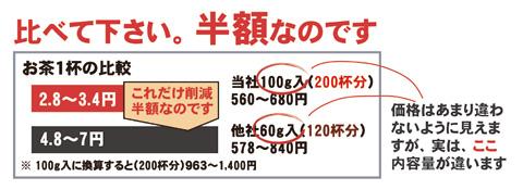 静岡産 粉末茶 で経費削減